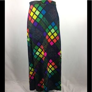 Stained glass 1970s rainbow maxi